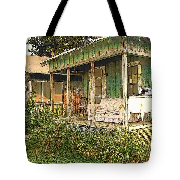 Delta Sharecropper Cabin - All The Conveniences Tote Bag