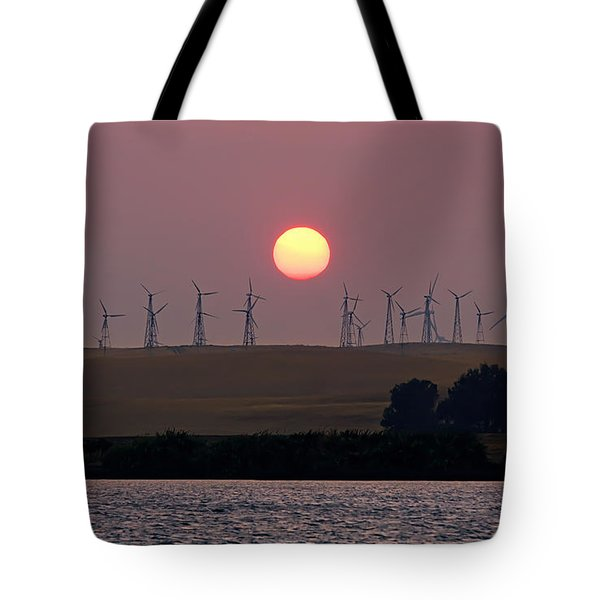 Delta Sunset Tote Bag