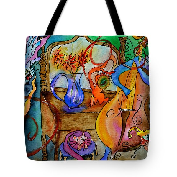 Demon Cats Tote Bag