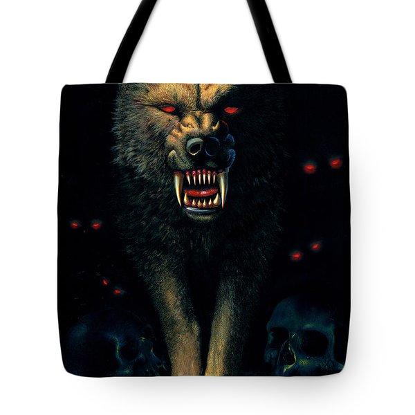 Demon Wolf Tote Bag by MGL Studio - Chris Hiett