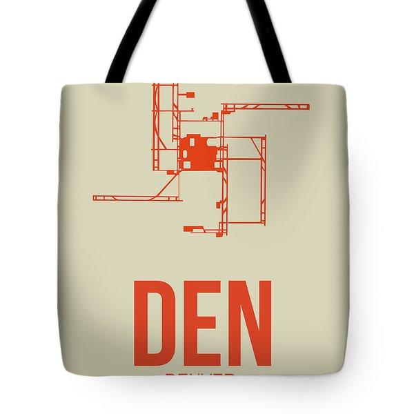 Den Denver Airport Poster 2 Tote Bag
