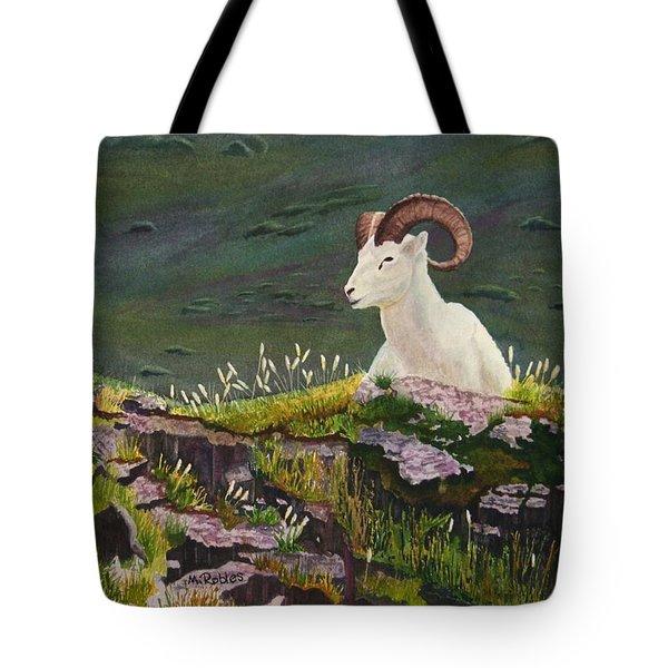 Denali Dall Sheep Tote Bag by Mike Robles