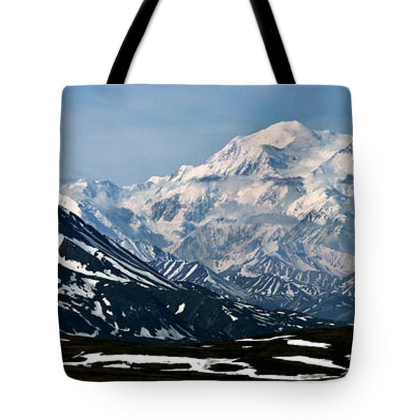 Tote Bag featuring the photograph Denali National Park Panorama by John Haldane
