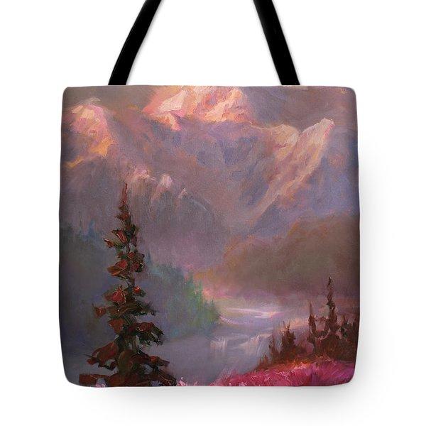 Denali Summer - Alaskan Mountains In Summer Tote Bag