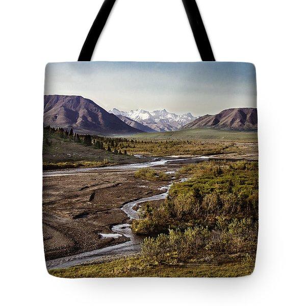 Denali Toklat River Tote Bag