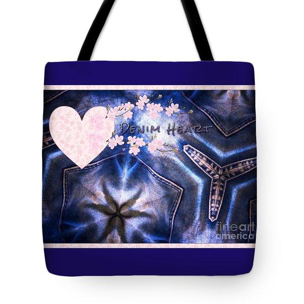 Denim Heart Tote Bag