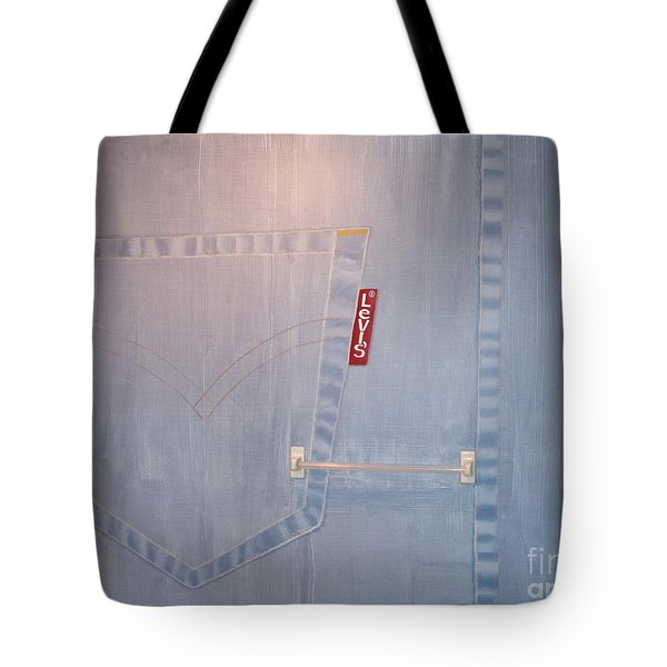 Denim Mural Tote Bag