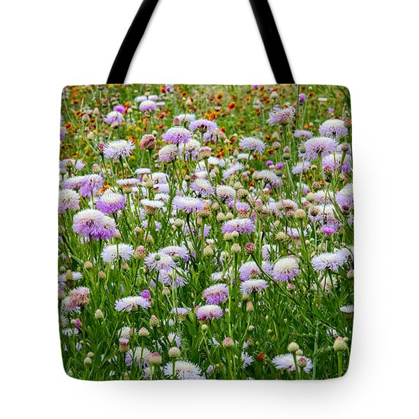 Dense Basket-flowers And Firewheels Tote Bag