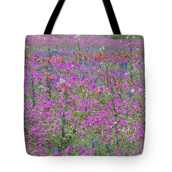 Dense Phlox And Other Wildflowers Tote Bag