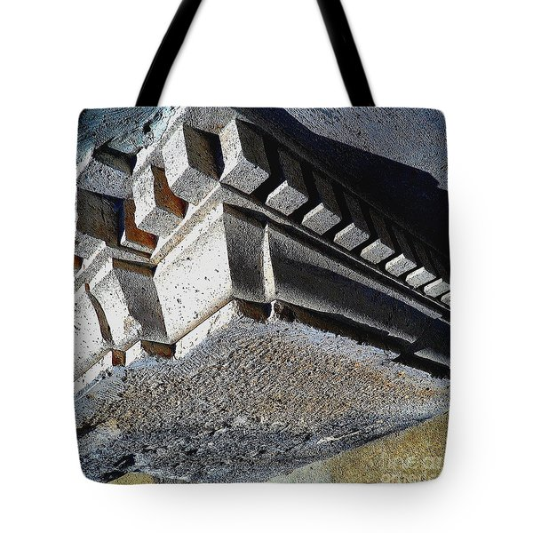 Dent Espace La Verite Trebuche Sur La Place Publique Tote Bag by Contemporary Luxury Fine Art