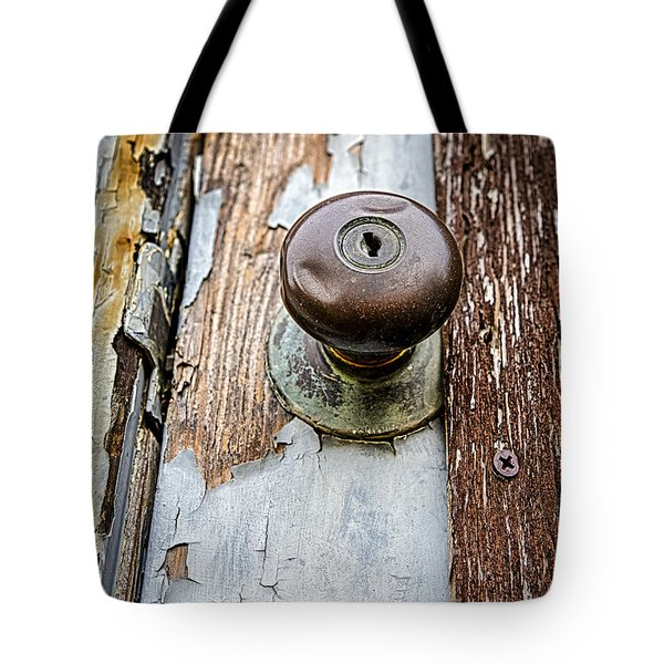 Dented Doorknob Tote Bag by Caitlyn  Grasso