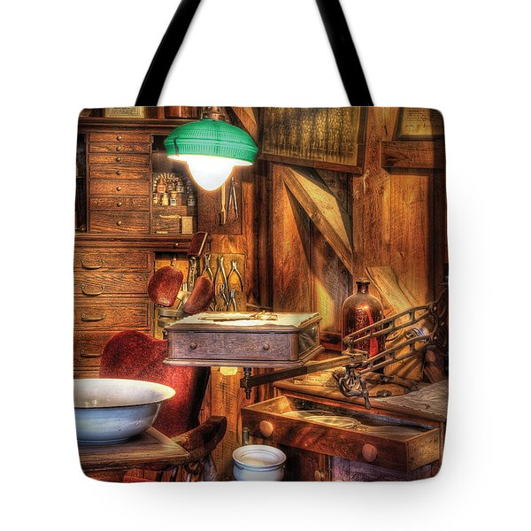 Dentist - In The Dentist's Office Tote Bag by Mike Savad