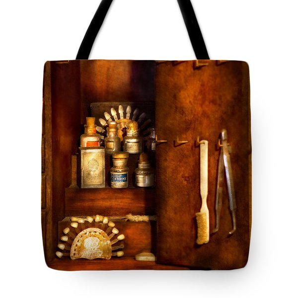 Dentist - The Dental Cabinet Tote Bag by Mike Savad