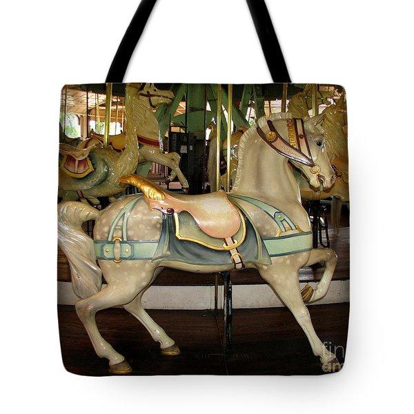 Dentzel Menagerie Carousel Horse Tote Bag