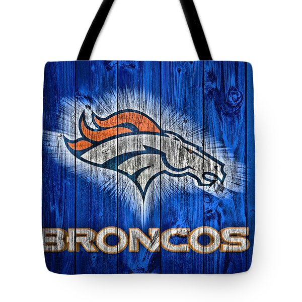 Denver Broncos Barn Door Tote Bag