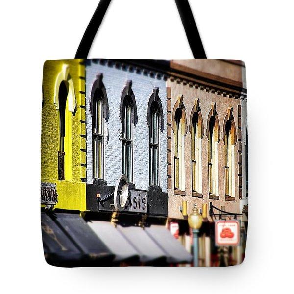 Denver Market Street Tilt Shift Tote Bag by For Ninety One Days