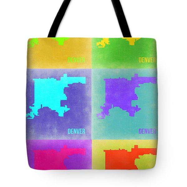 Denver Pop Art Map 3 Tote Bag by Naxart Studio