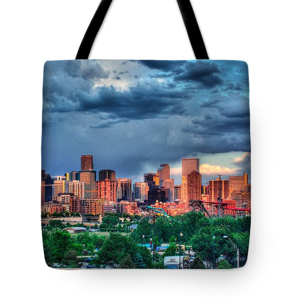 Denver Skyline Tote Bag by Teri Brown