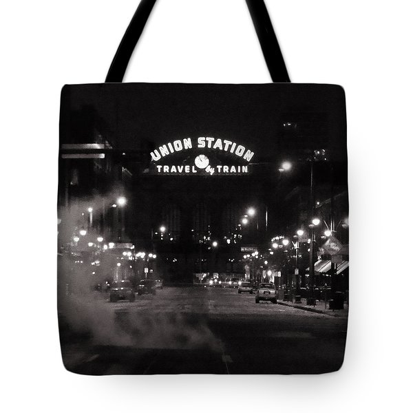 Denver Union Station Square Image Tote Bag