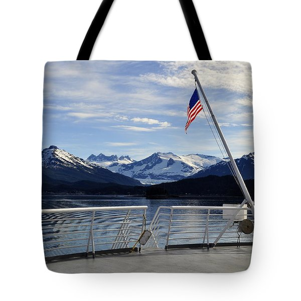 Departing Auke Bay Tote Bag