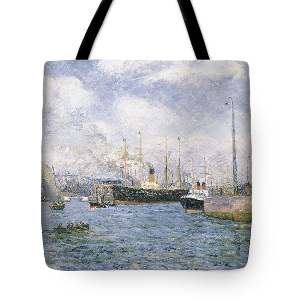 Departure From Havre Tote Bag by Maxime Emile Louis Maufra