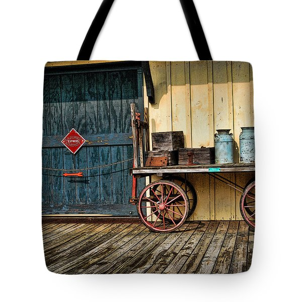 Tote Bag featuring the photograph Depot Wagon by Kenny Francis