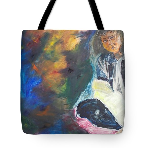 Tote Bag featuring the painting Depression by PainterArtist FIN