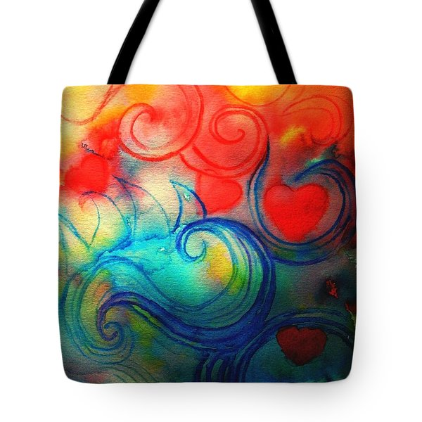 Depths Of His Love Tote Bag by Hazel Holland