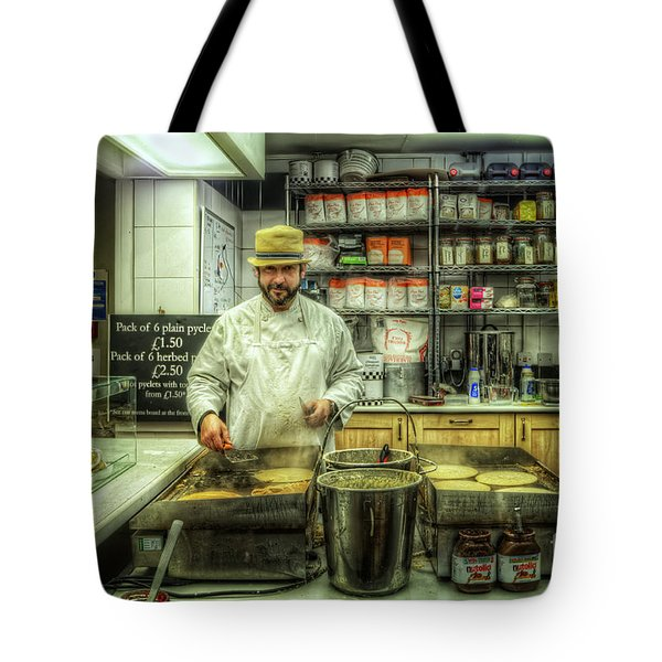 Derby Pyclet And Oat Cakes Tote Bag by Yhun Suarez