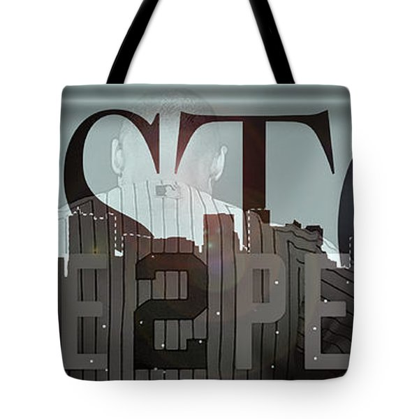 Derek Jeter - Boston Tote Bag by Joann Vitali