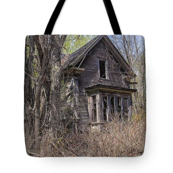 Tote Bag featuring the photograph Derelict House by Marty Saccone