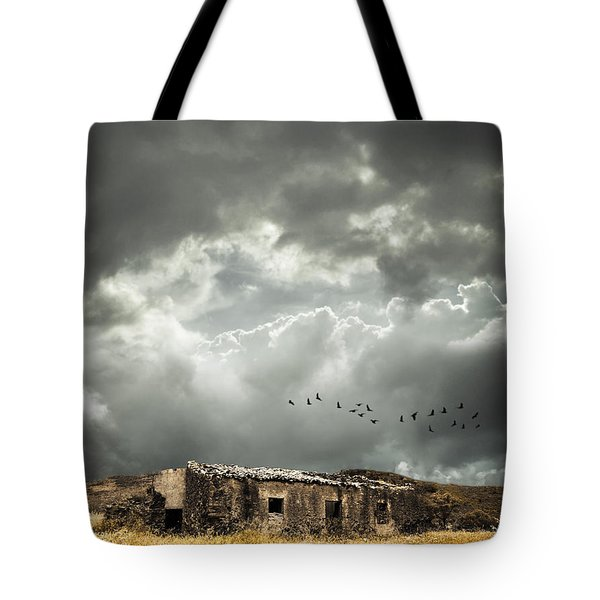 Derelict Rural Building Tote Bag by Amanda Elwell