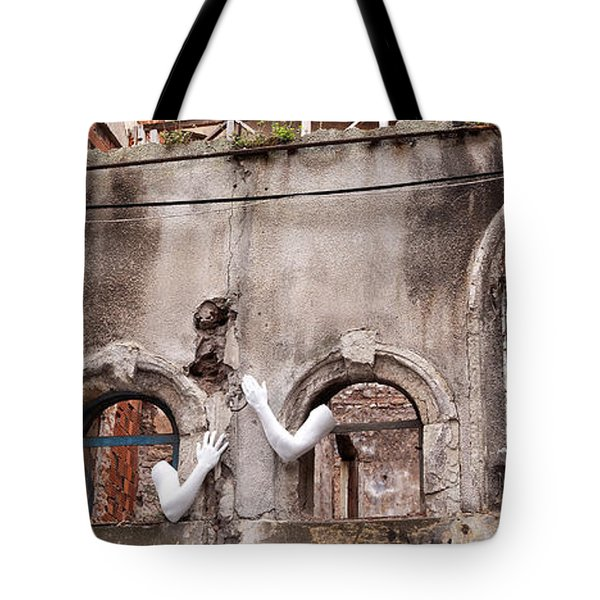 Derelict Wall Of Lost Limbs 02 Tote Bag by Rick Piper Photography