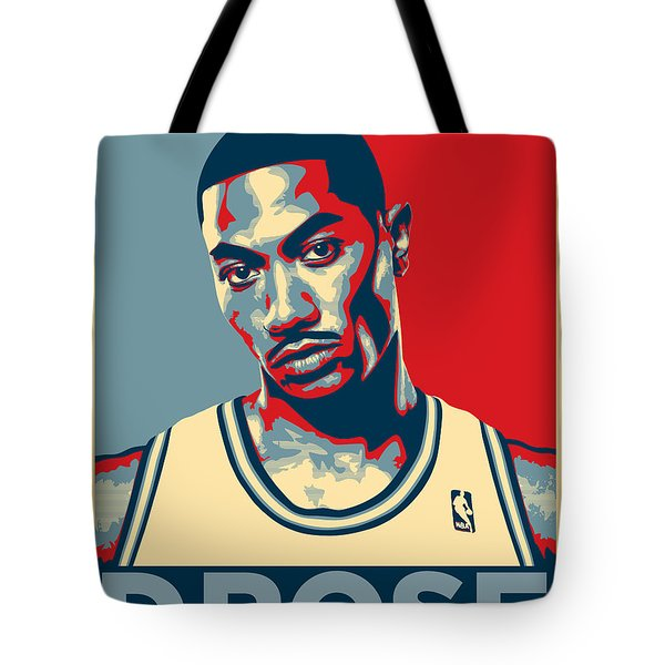 Derrick Rose Tote Bag by Taylan Apukovska