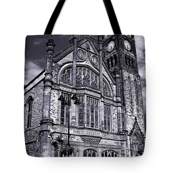 Tote Bag featuring the photograph Derry Guildhall by Nina Ficur Feenan