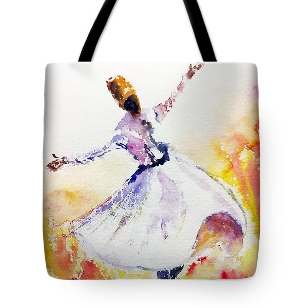 Sufi  Or Dervish Dancer Tote Bag