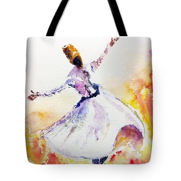 Sufi  Or Dervish Dancer Tote Bag