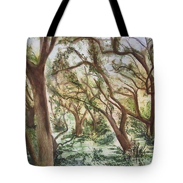 Descanso Oaks Tote Bag