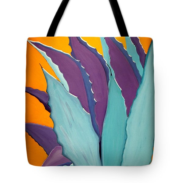 Desert Agave Cactus Tote Bag by Karyn Robinson