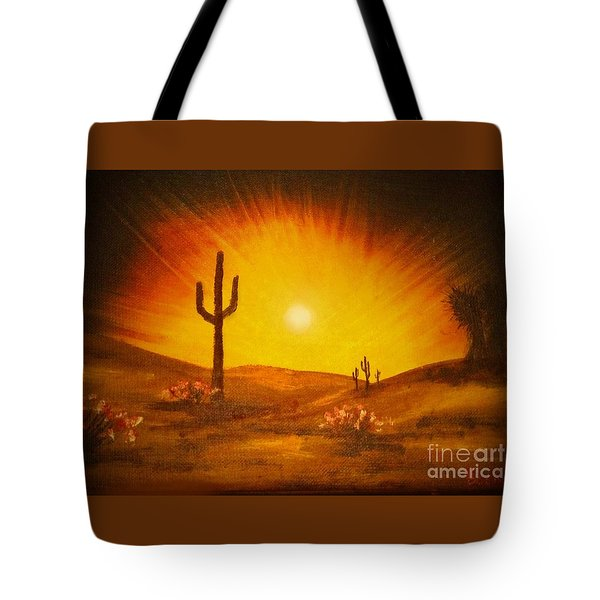 Desert Aglow Tote Bag by Becky Lupe