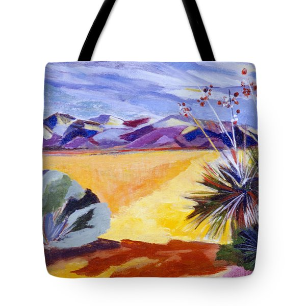 Desert And Mountains Tote Bag