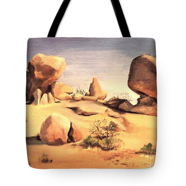 Desert Balanced Rock Tote Bag