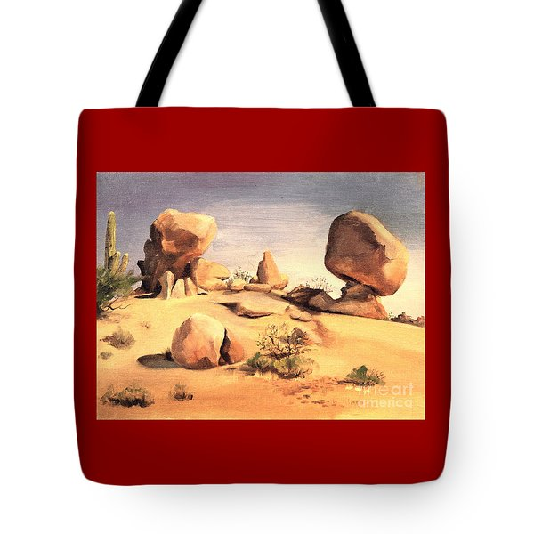 Desert Balanced Rock Tote Bag