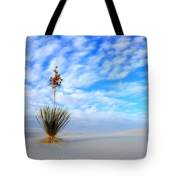 Desert Beauty White Sands New Mexico Tote Bag by Bob Christopher