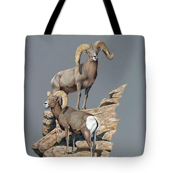 Desert Bighorn Rams Tote Bag