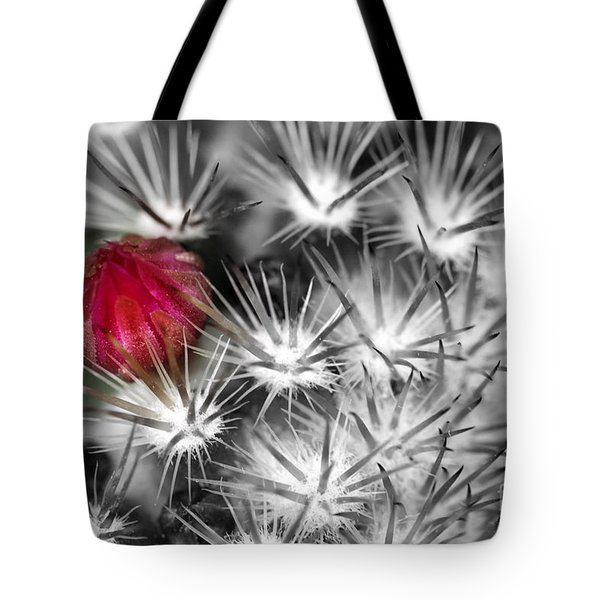 Desert Bloom Bw Tote Bag