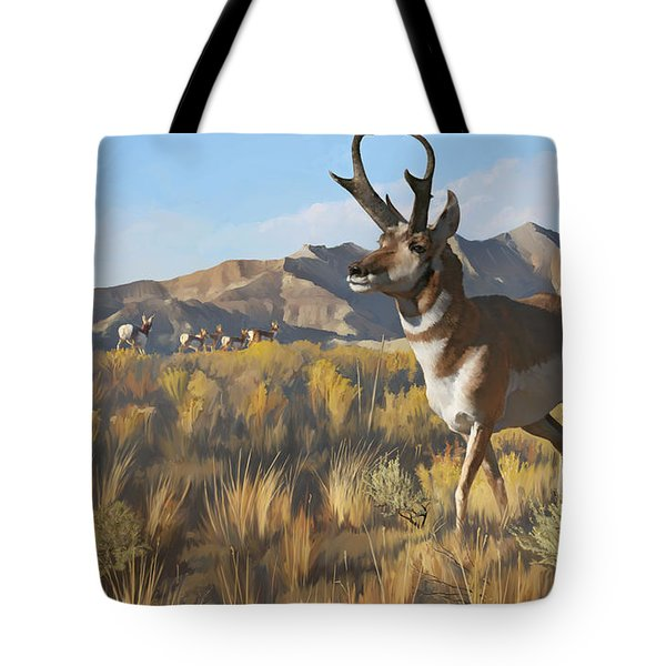 Desert Buck Tote Bag by Rob Corsetti