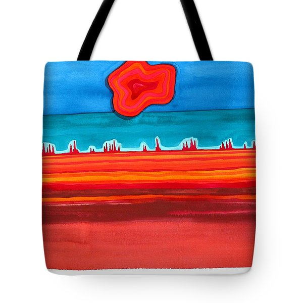 Desert Cities Original Painting Sold Tote Bag