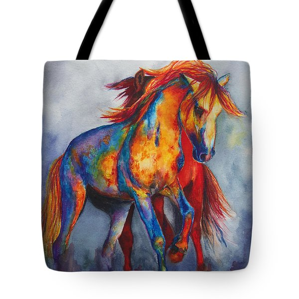 Tote Bag featuring the painting Desert Dance by Karen Kennedy Chatham