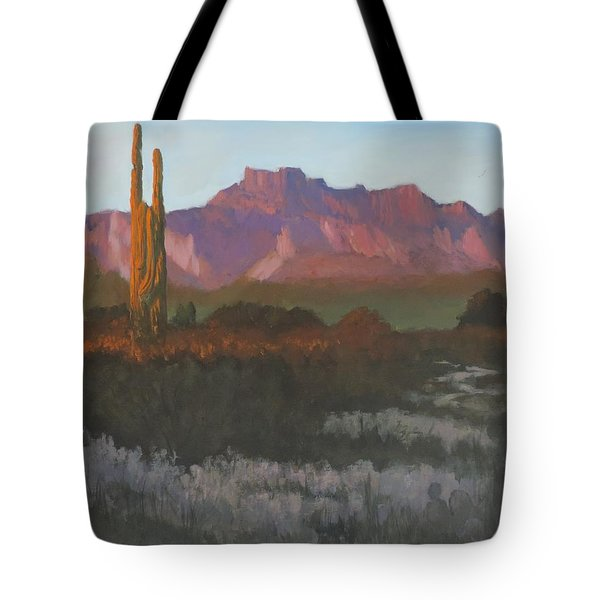 Desert Sunset Glow - Art By Bill Tomsa Tote Bag